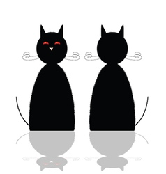 Cat front and back position vector