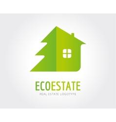 Abstract eco estate logo template for vector