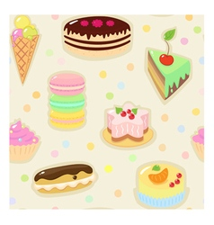 Confection seamless pattern vector