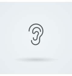 Stock minimalist icon ear vector
