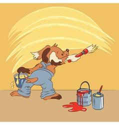 amusing cartoon dog vector image