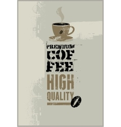 Premium coffee grunge retro background vector