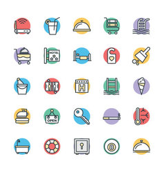 Hotel and Restaurant Cool Icons 2 vector image