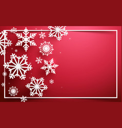 abstract snowflakes on red background vector image vector image