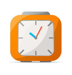 analog alarm clock icon vector image vector image