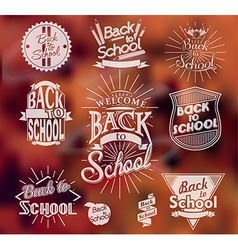 Back to School calligraphic designs vector image vector image