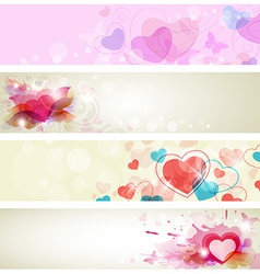banners romantic vector image