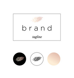 branding logo identity for product or company vector image