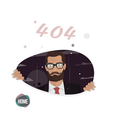 Business man page not found error 404 vector