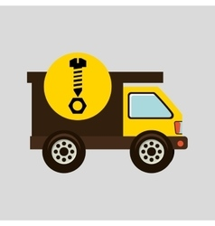 Construction gear icon screw nut vector