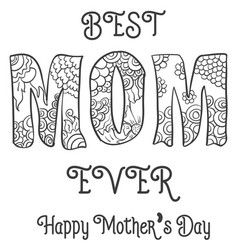 Hand draw mother day art vector