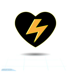heart icon a symbol of the high voltage from vector image vector image