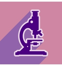 Icon of medical microscope in flat style vector
