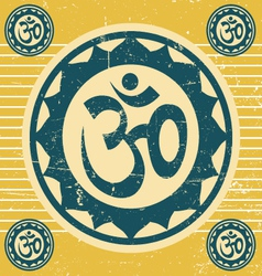 indian ohm symbol vector image vector image