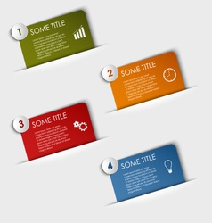 Info graphic rectangular labels in your pocket vector