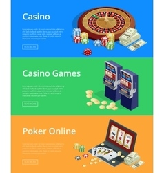Internet casino games Modern flat design concepts vector image