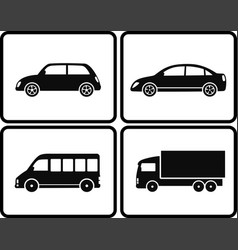 Isolated cars in frame vector