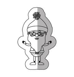 Isolated santa of christmas season design vector