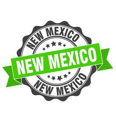 New mexico round ribbon seal vector