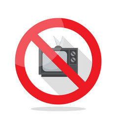 no television sign vector image vector image