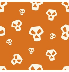 Orange Skull Pattern Small vector image vector image