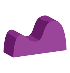 Purple graph curve icon cartoon style vector