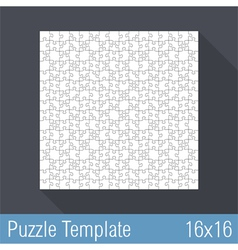 Puzzle Template 16x16 vector image vector image