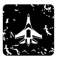 Quick military aircraft icon grunge style vector