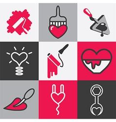 repair logo icons vector image