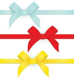 Ribbon three bows vector image vector image