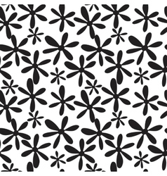 Seamless black and white branches and leaves vector image vector image