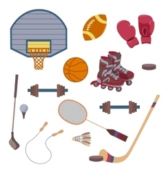 set of sport objects vector image vector image