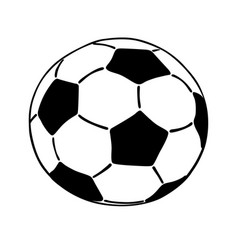 Soccer ball icon isolated on white background vector