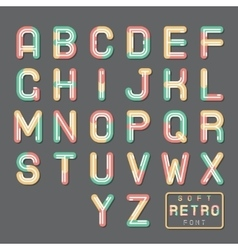 Soft line abstract retro vintage hopster alphabet vector