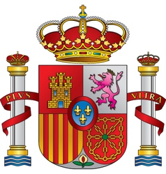 Spain royal emblem vector
