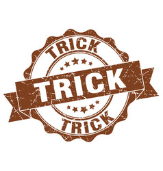 trick stamp sign seal vector image vector image