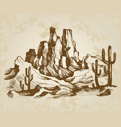 typical landscape of arizona vector image