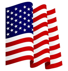 Waving US Flag vector image