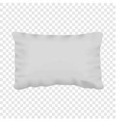 White pillow mockup realistic style vector