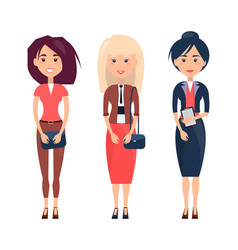 Women collection on poster vector