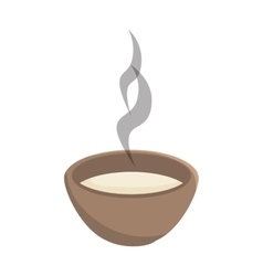 hot soup bowl vector image