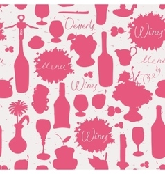 Seamless texture on wine vector