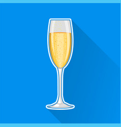 Champagne glass happy new year and merry vector