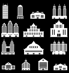 Building set 4 - White vector image