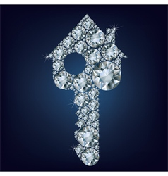 House key made up a lot of diamonds vector image