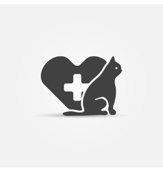 Cat vet icon vector