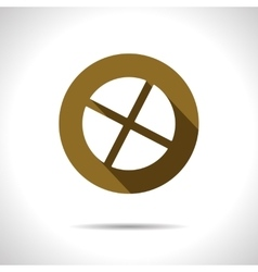 Circle with cross slot icon eps10 vector