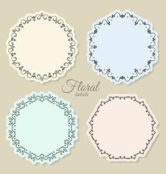Floral circle frames vector image