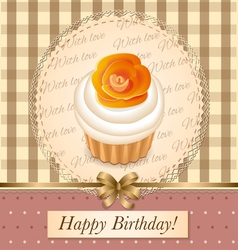 Cupcake birthday vector