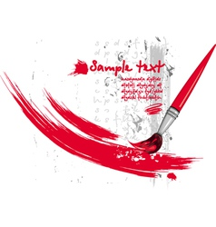 paintbrush and strokes vector image